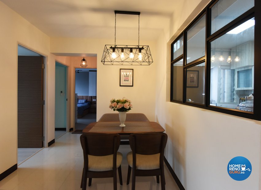 Scandinavian Design - Dining Room - HDB 4 Room - Design by Starry Homestead Pte Ltd