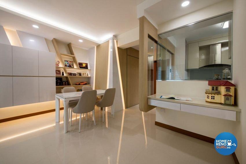Modern Design - Dining Room - HDB 4 Room - Design by Starry Homestead Pte Ltd