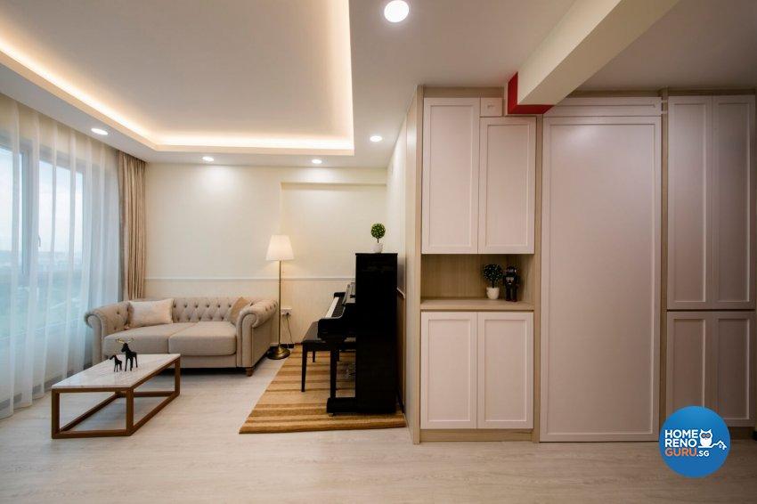 Minimalist, Scandinavian Design - Living Room - HDB 4 Room - Design by Starry Homestead Pte Ltd