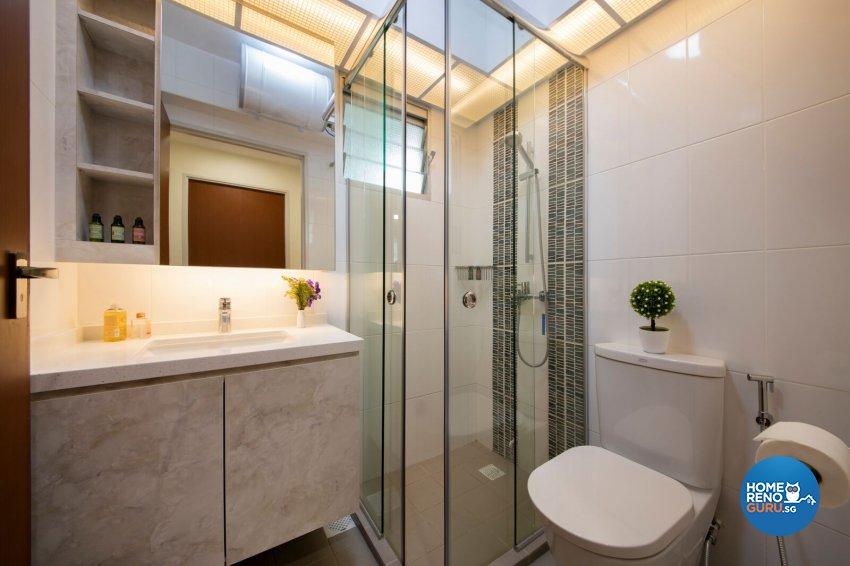 Minimalist, Scandinavian Design - Bathroom - HDB 4 Room - Design by Starry Homestead Pte Ltd