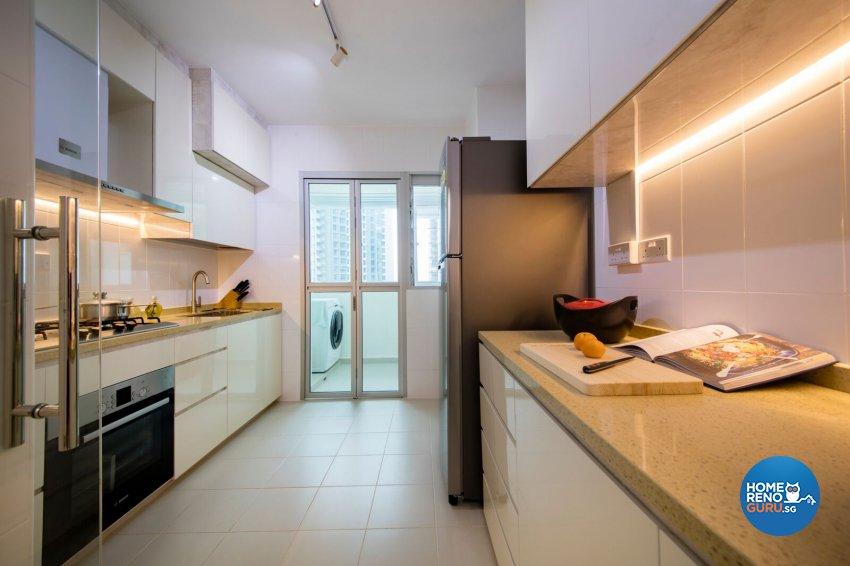 Minimalist, Scandinavian Design - Kitchen - HDB 4 Room - Design by Starry Homestead Pte Ltd