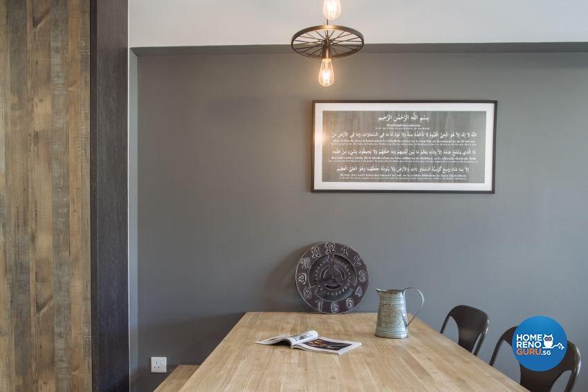 Industrial Design - Dining Room - HDB 4 Room - Design by Starry Homestead Pte Ltd