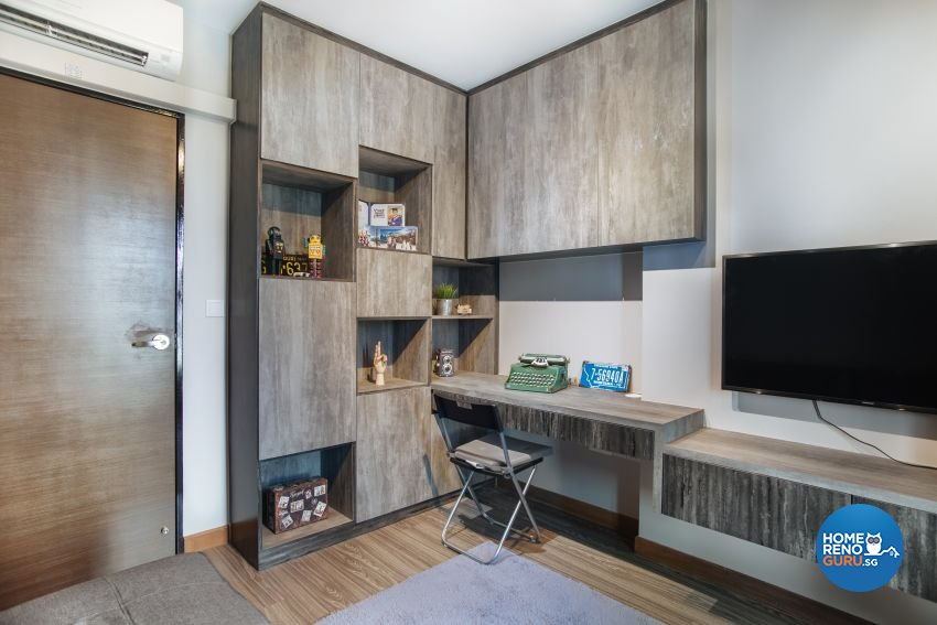 Industrial Design - Study Room - HDB 4 Room - Design by Starry Homestead Pte Ltd