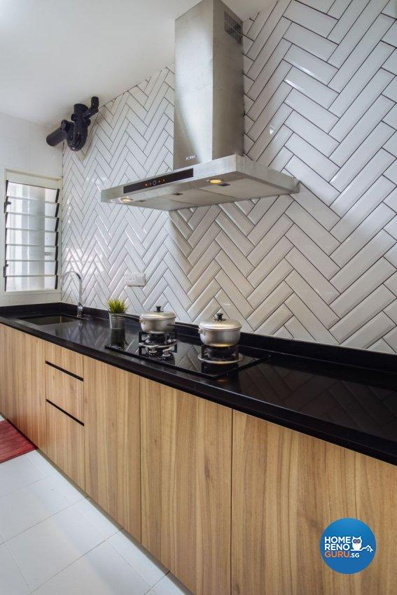 Industrial Design - Kitchen - HDB 4 Room - Design by Starry Homestead Pte Ltd