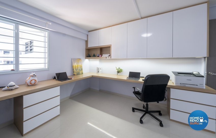 Scandinavian Design - Study Room - HDB 5 Room - Design by Starry Homestead Pte Ltd
