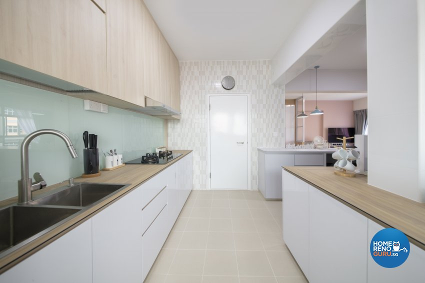 Scandinavian Design - Kitchen - HDB 4 Room - Design by Starry Homestead Pte Ltd