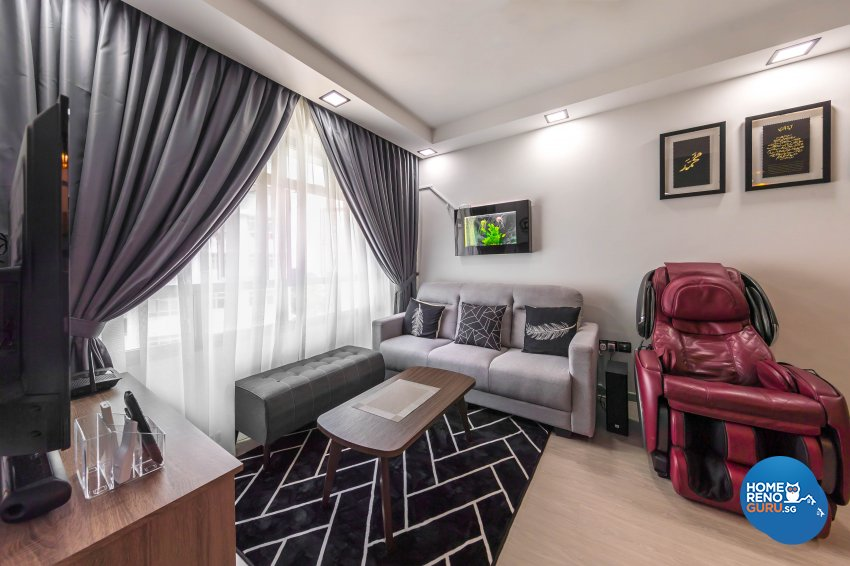 Modern Design - Living Room - HDB 3 Room - Design by Starry Homestead Pte Ltd