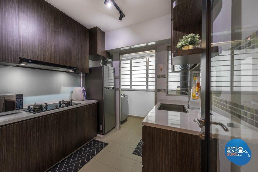 Modern Design - Kitchen - HDB 3 Room - Design by Starry Homestead Pte Ltd