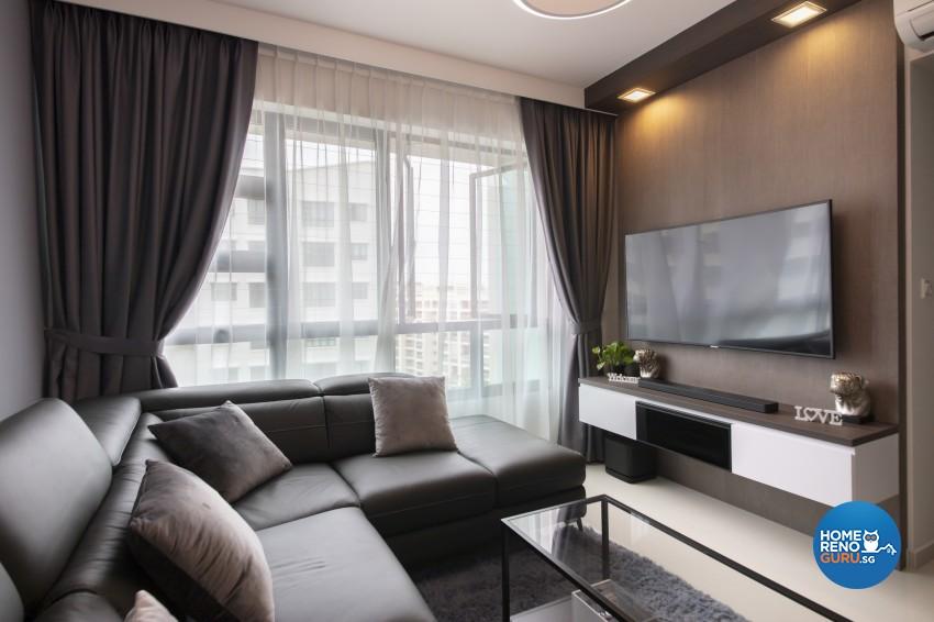 Modern Design - Living Room - HDB 4 Room - Design by Starry Homestead Pte Ltd
