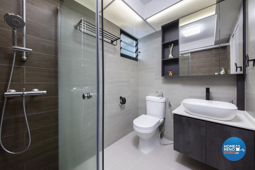 Modern Design - Bathroom - HDB 4 Room - Design by Starry Homestead Pte Ltd