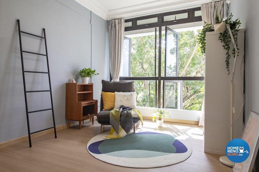 Scandinavian Design - Entertainment Room - HDB 5 Room - Design by Starry Homestead Pte Ltd