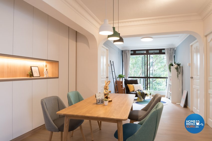 Scandinavian Design - Dining Room - HDB 5 Room - Design by Starry Homestead Pte Ltd
