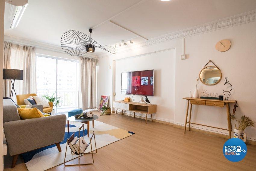 Scandinavian Design - Living Room - HDB 5 Room - Design by Starry Homestead Pte Ltd