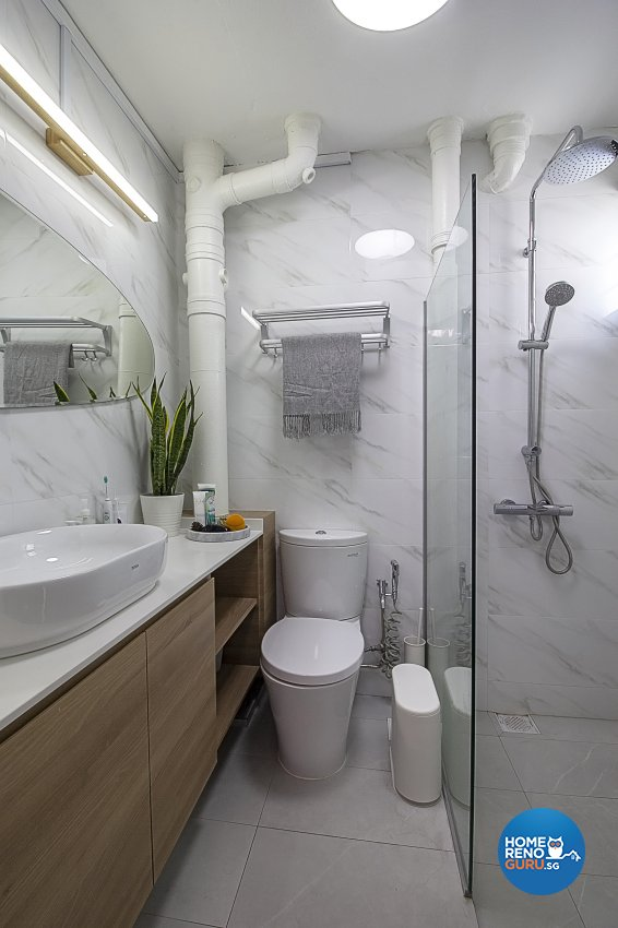 Scandinavian Design - Bathroom - HDB 5 Room - Design by Starry Homestead Pte Ltd