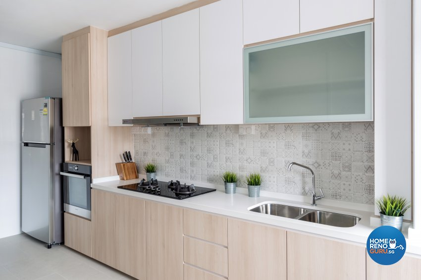 Modern Design - Kitchen - HDB 4 Room - Design by Starry Homestead Pte Ltd