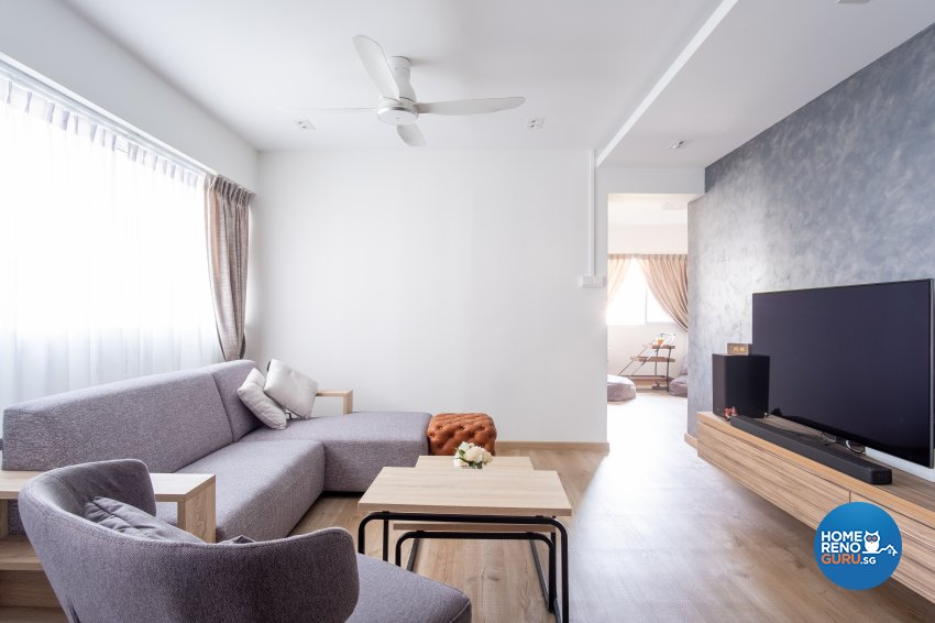 Contemporary Design - Living Room - HDB 5 Room - Design by Starry Homestead Pte Ltd