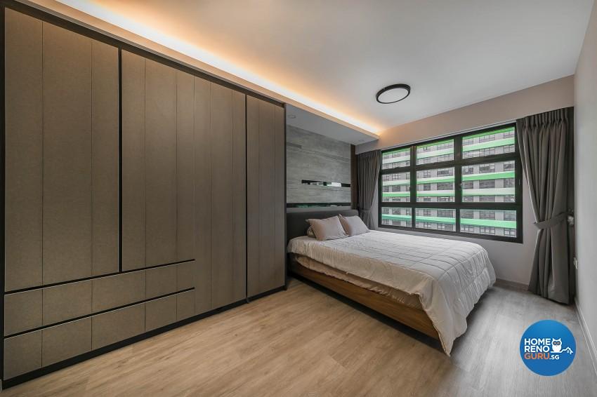 Industrial, Modern Design - Bedroom - HDB 5 Room - Design by Starry Homestead Pte Ltd