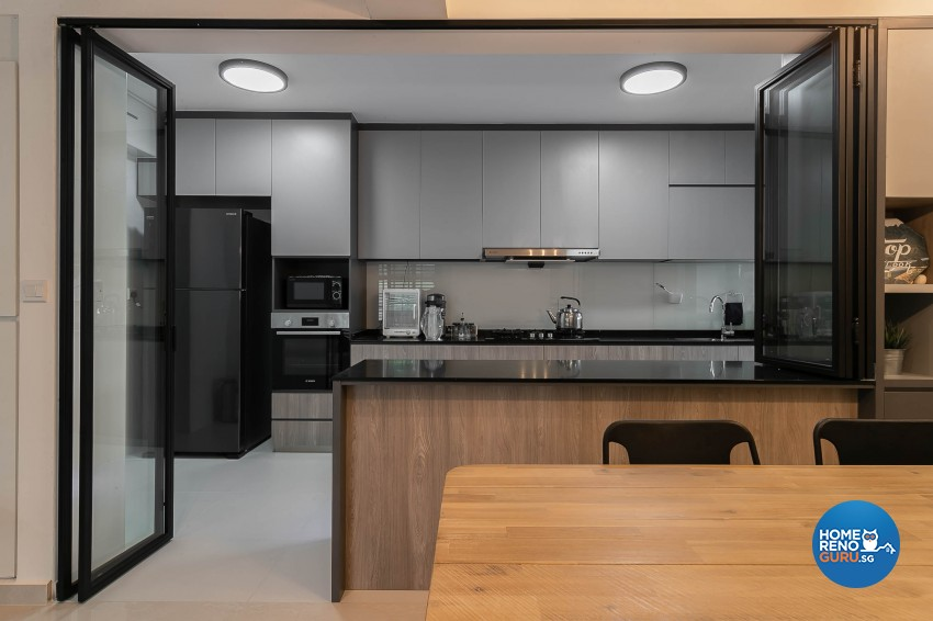 Industrial, Modern Design - Dining Room - HDB 5 Room - Design by Starry Homestead Pte Ltd