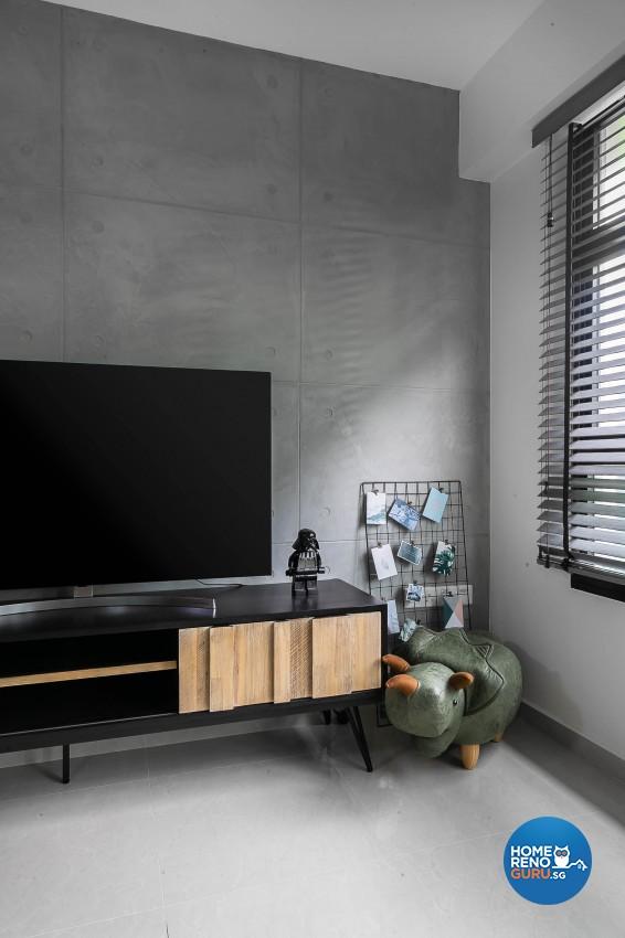Industrial, Modern Design - Living Room - HDB 5 Room - Design by Starry Homestead Pte Ltd