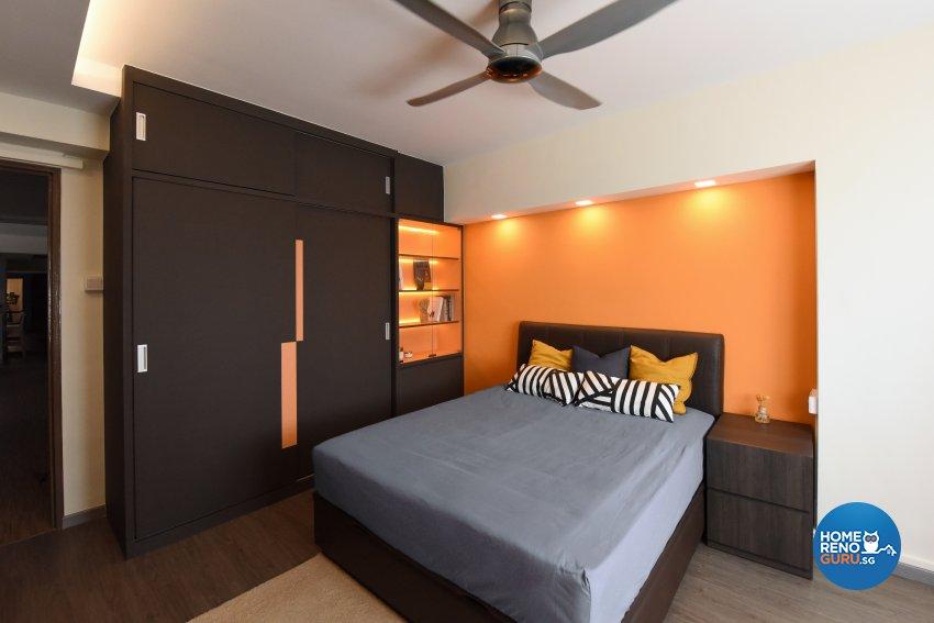 Industrial, Scandinavian Design - Bedroom - HDB 5 Room - Design by Starry Homestead Pte Ltd