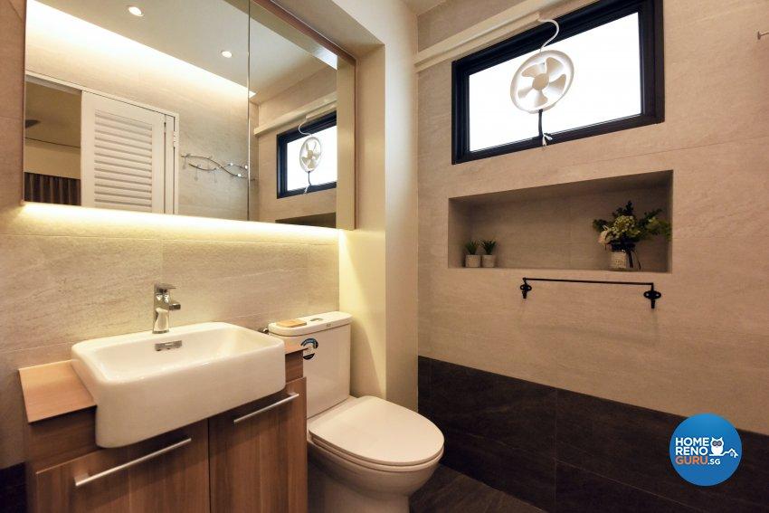 Industrial, Scandinavian Design - Bathroom - HDB 5 Room - Design by Starry Homestead Pte Ltd