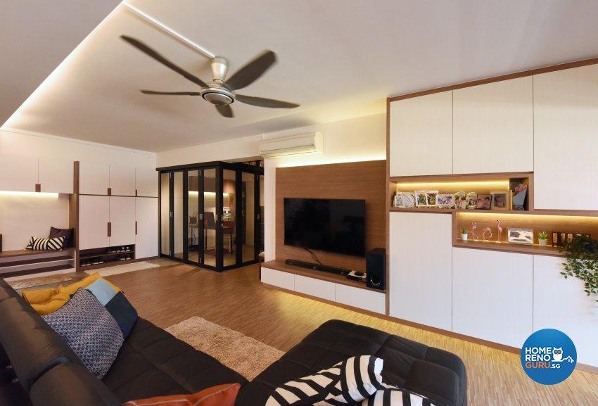 Industrial, Scandinavian Design - Living Room - HDB 5 Room - Design by Starry Homestead Pte Ltd
