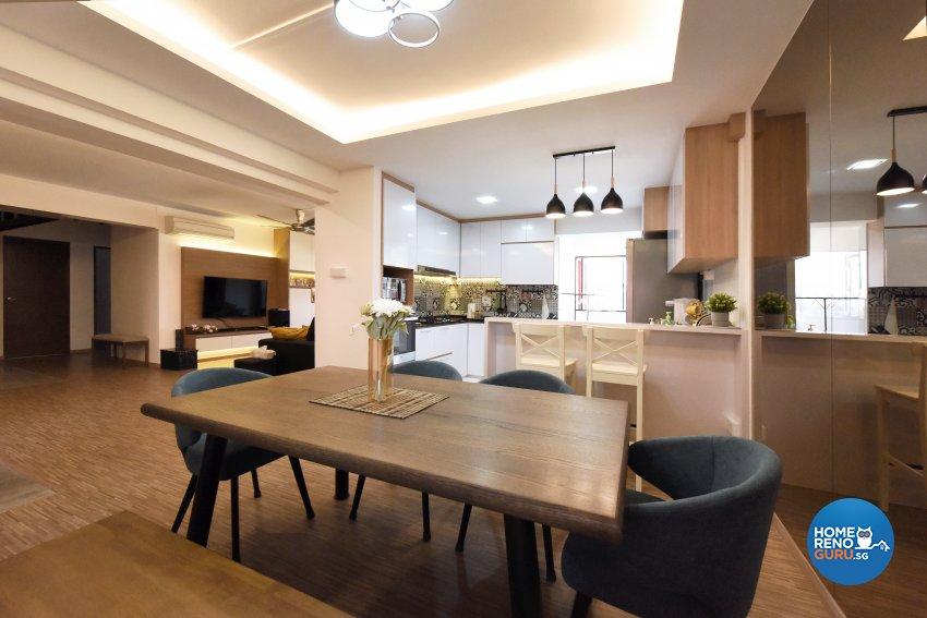 Industrial, Scandinavian Design - Dining Room - HDB 5 Room - Design by Starry Homestead Pte Ltd