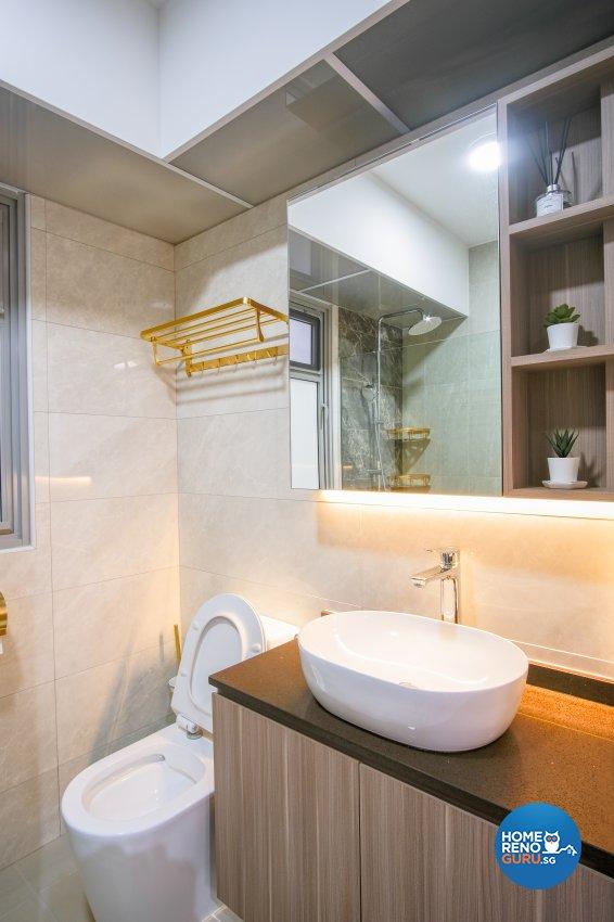 Scandinavian Design - Bathroom - HDB 5 Room - Design by Starry Homestead Pte Ltd