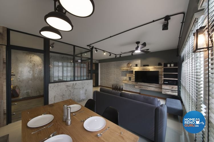 Industrial, Minimalist, Scandinavian Design - Dining Room - HDB 5 Room - Design by Starry Homestead Pte Ltd
