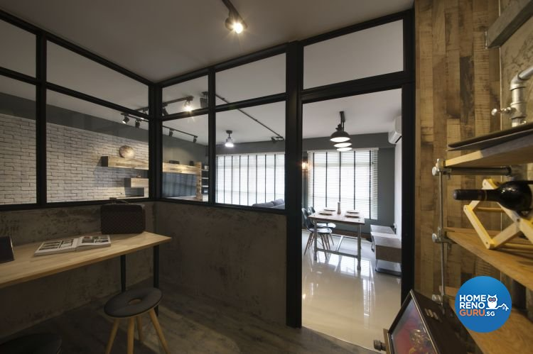 Industrial, Minimalist, Scandinavian Design - Study Room - HDB 5 Room - Design by Starry Homestead Pte Ltd