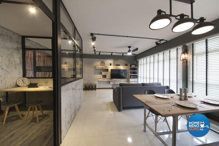 Industrial, Minimalist, Scandinavian Design - Dining Room - HDB 5 Room - Design by Starry Homestead Pte Ltd