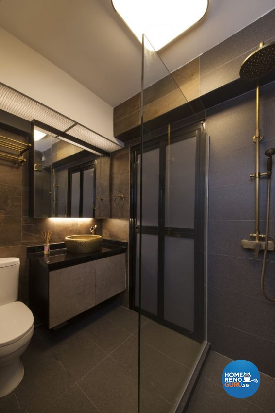 Industrial, Minimalist, Scandinavian Design - Bathroom - HDB 5 Room - Design by Starry Homestead Pte Ltd