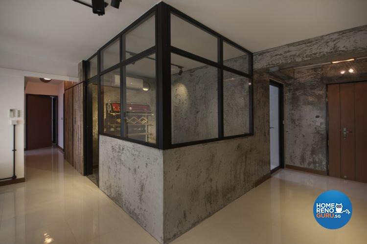 Industrial, Minimalist, Scandinavian Design - Living Room - HDB 5 Room - Design by Starry Homestead Pte Ltd