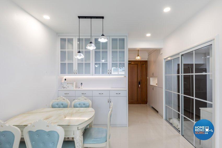 Modern, Victorian Design - Dining Room - Condominium - Design by Starry Homestead Pte Ltd
