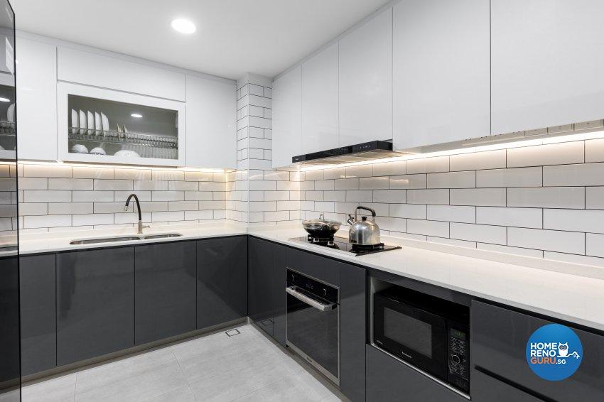 Modern, Victorian Design - Kitchen - Condominium - Design by Starry Homestead Pte Ltd