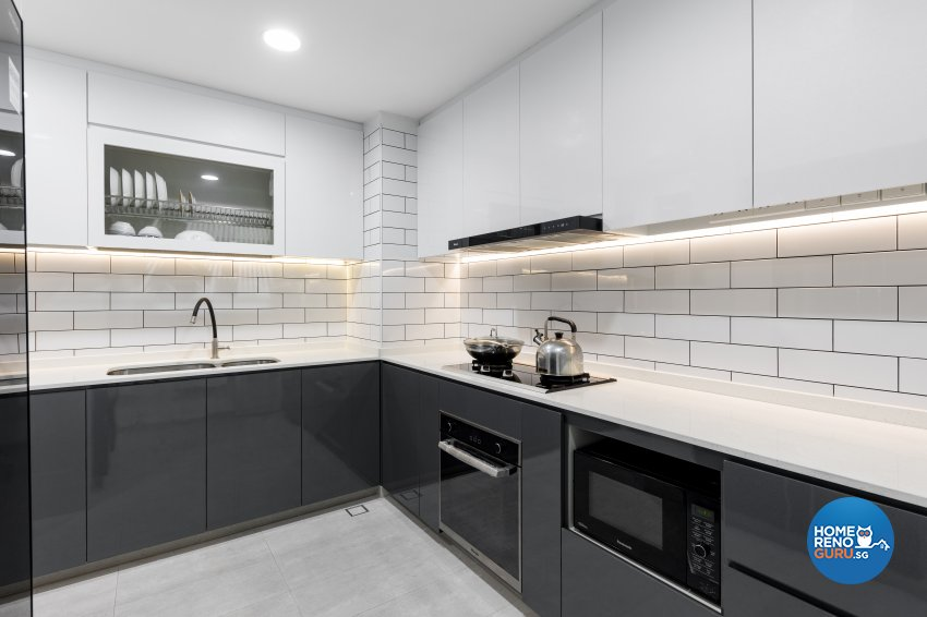 Modern, Victorian Design - Kitchen - Condominium - Design by Starry Homestead Pte Ltd
