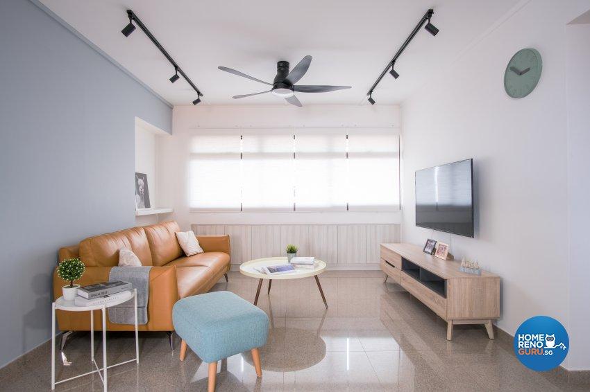 Scandinavian Design - Living Room - HDB 4 Room - Design by Starry Homestead Pte Ltd