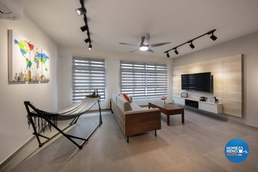 Contemporary, Industrial Design - Living Room - HDB 5 Room - Design by Starry Homestead Pte Ltd