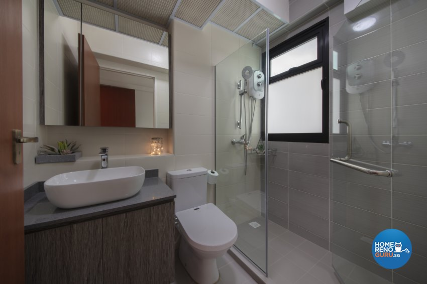 Contemporary, Industrial Design - Bathroom - HDB 5 Room - Design by Starry Homestead Pte Ltd