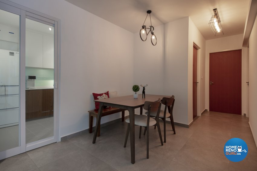 Contemporary, Industrial Design - Dining Room - HDB 5 Room - Design by Starry Homestead Pte Ltd