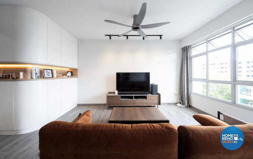 Modern, Scandinavian Design - Living Room - HDB 4 Room - Design by Starry Homestead Pte Ltd