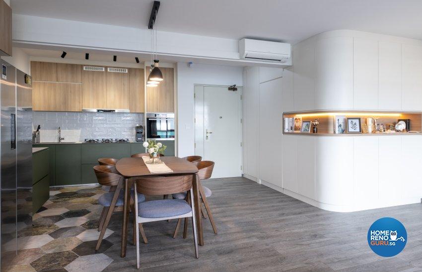 Modern, Scandinavian Design - Dining Room - HDB 4 Room - Design by Starry Homestead Pte Ltd
