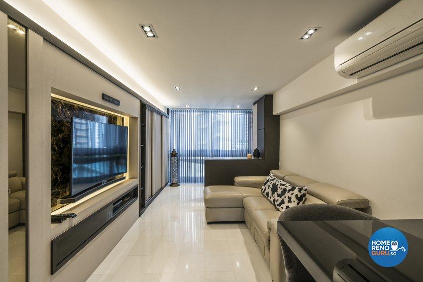 Contemporary, Modern Design - Living Room - HDB 3 Room - Design by Starry Homestead Pte Ltd