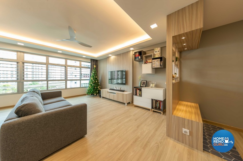 Modern, Scandinavian Design - Living Room - HDB 5 Room - Design by Starry Homestead Pte Ltd