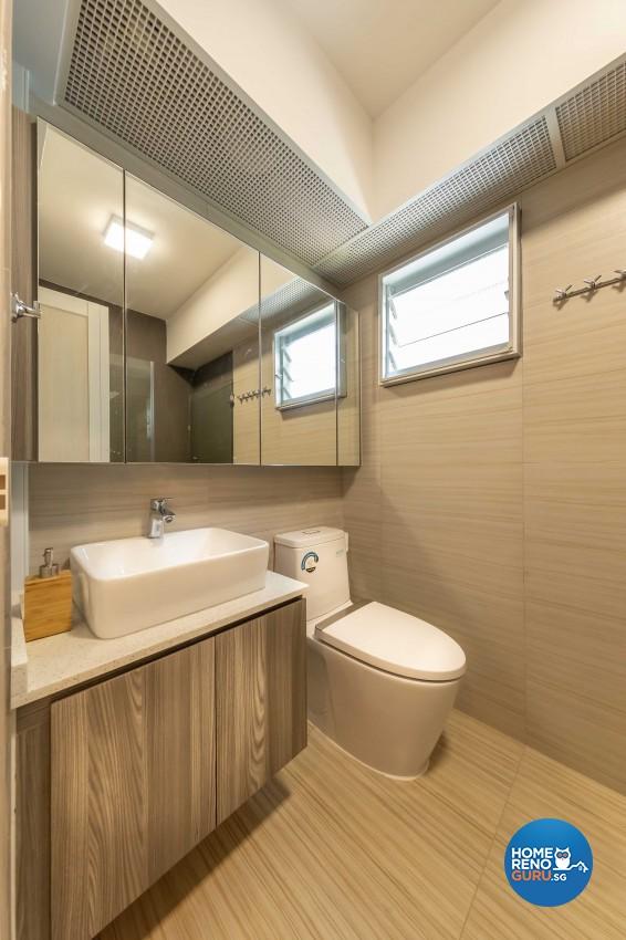 Modern, Scandinavian Design - Bathroom - HDB 5 Room - Design by Starry Homestead Pte Ltd