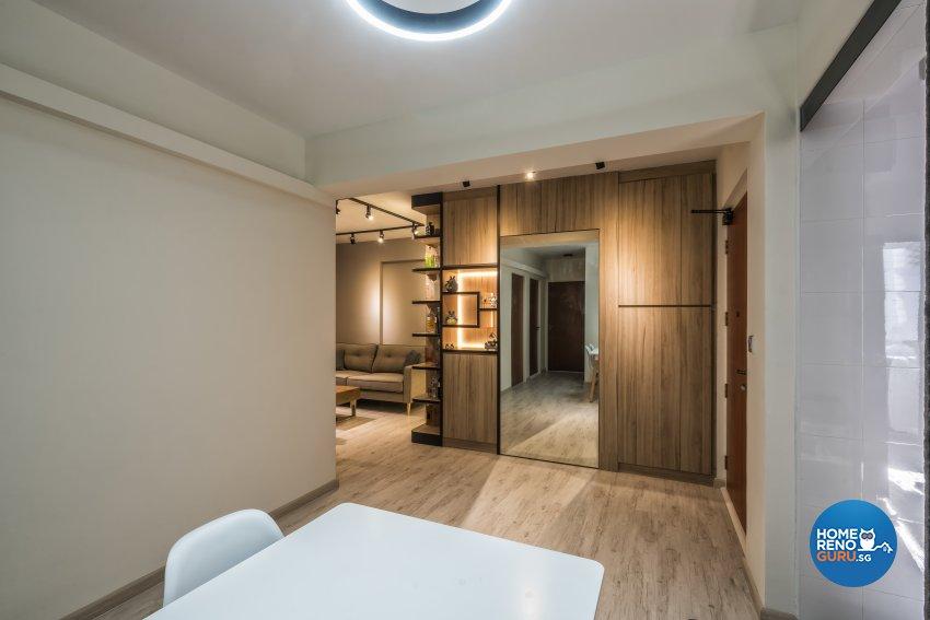 Scandinavian Design - Dining Room - HDB 4 Room - Design by Starry Homestead Pte Ltd