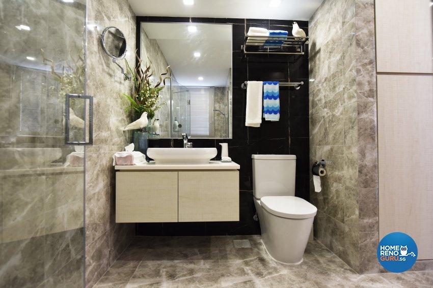 Mediterranean Design - Bathroom - Condominium - Design by Starry Homestead Pte Ltd