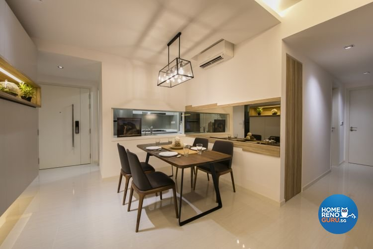 Minimalist, Modern Design - Dining Room - Condominium - Design by Starry Homestead Pte Ltd