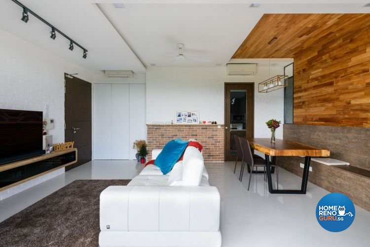 Industrial, Minimalist, Scandinavian Design - Living Room - Condominium - Design by Starry Homestead Pte Ltd