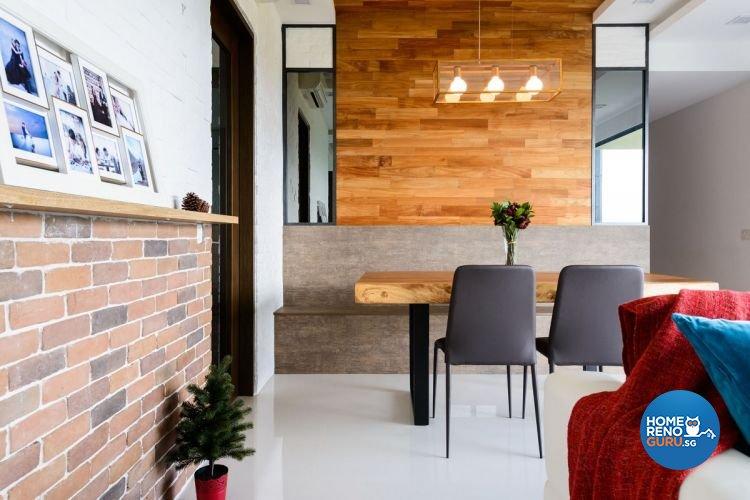 Industrial, Minimalist, Scandinavian Design - Dining Room - Condominium - Design by Starry Homestead Pte Ltd